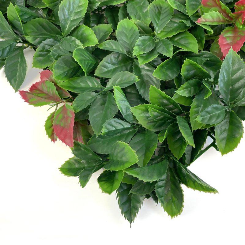 Autumn artificial hedging tile close up image