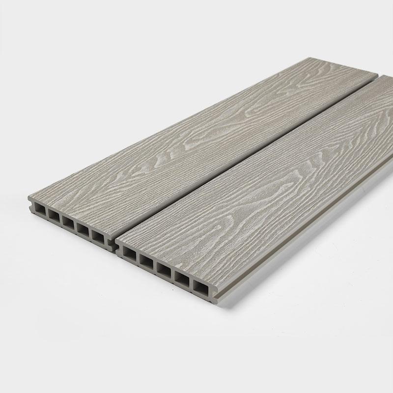 White composite decking