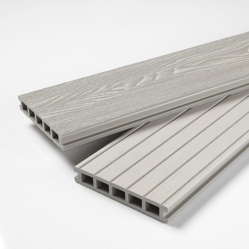 Ash white composite decking
