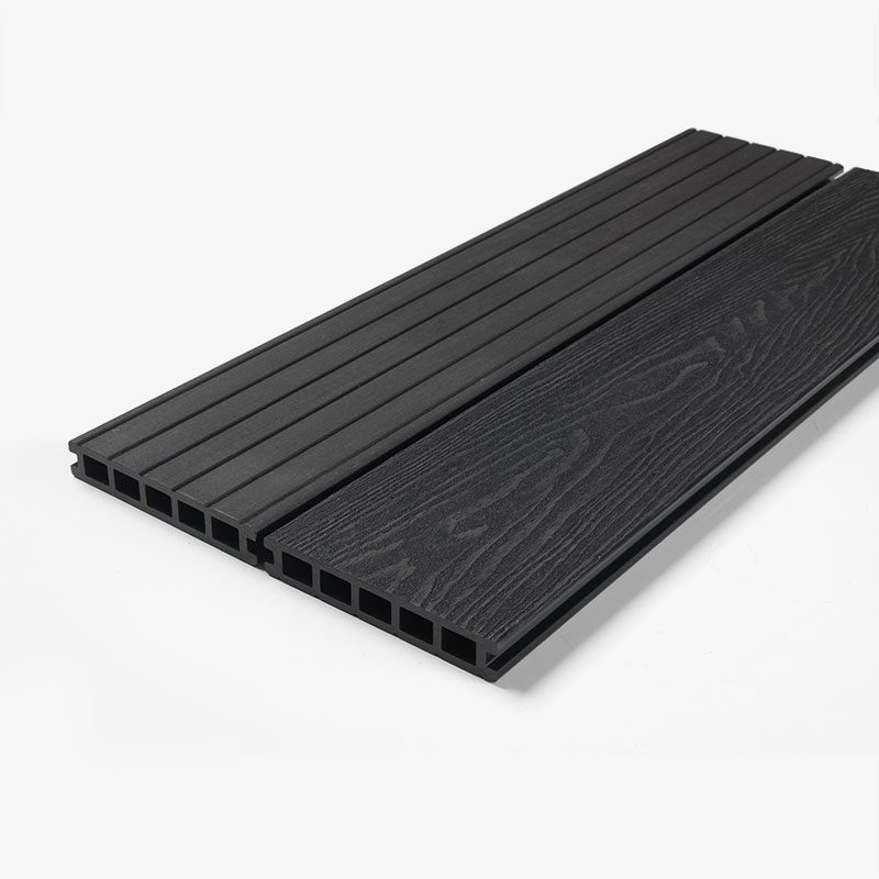 black composite decking