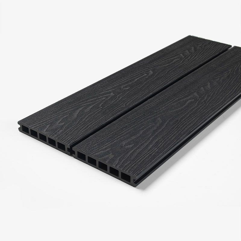 Black deep embossed decking