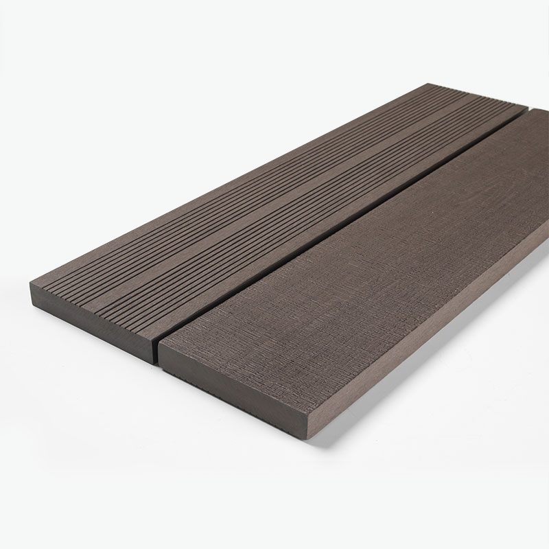 Solid brown composite Decking