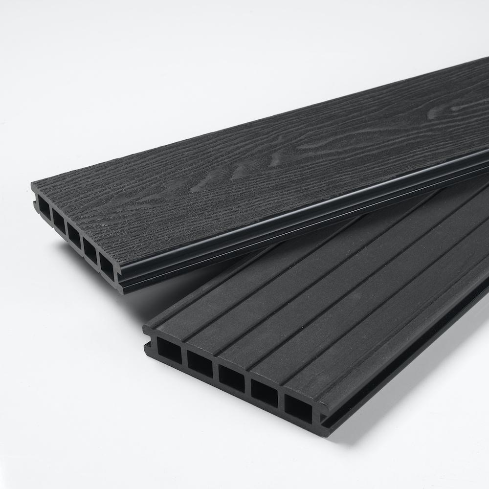 midnight black composite decking