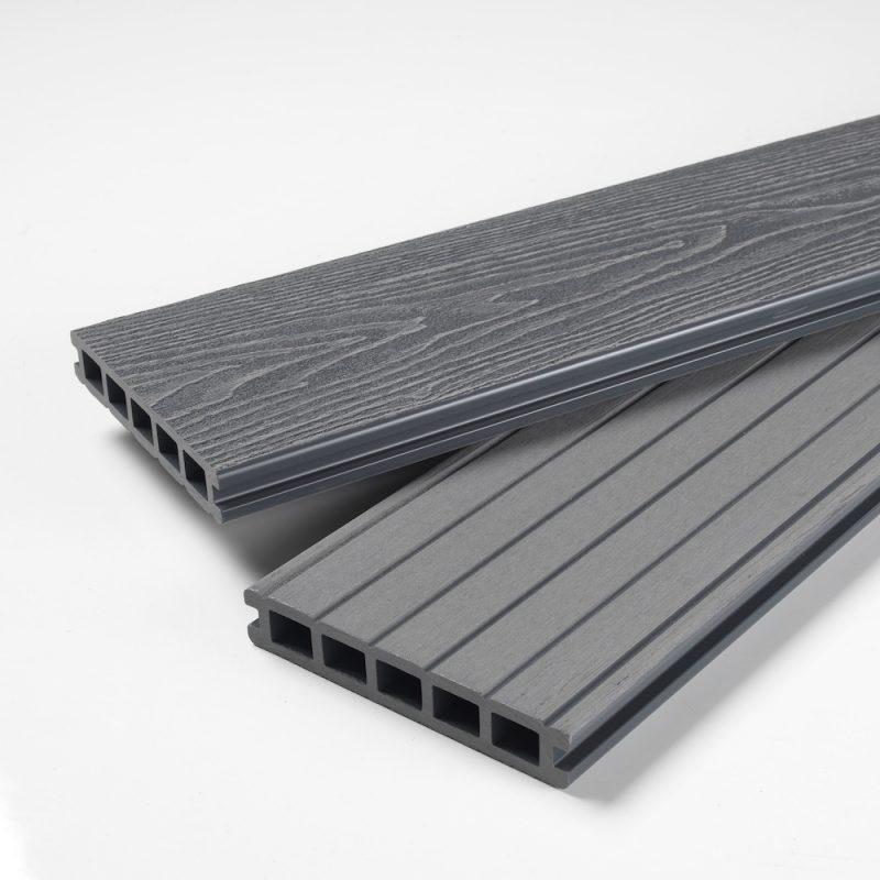 mist grey composite decking boards