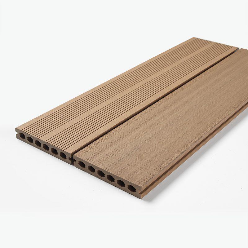 Teak composite decking boards