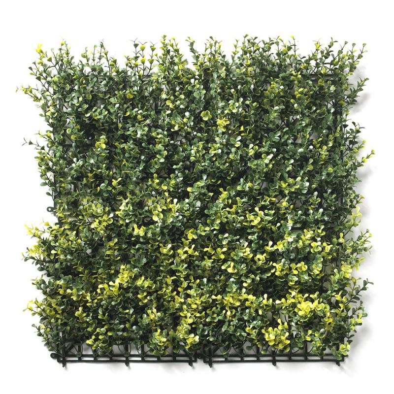 Boxwood natural artificial hedge tile flat view