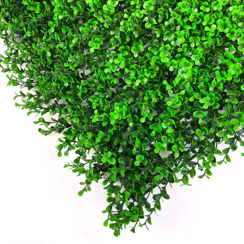 Boxwood dark artificial hedging tile close up