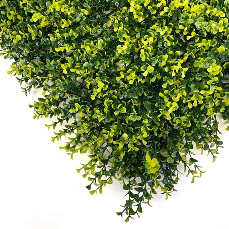 Boxwood natural artificial hedging tile close up