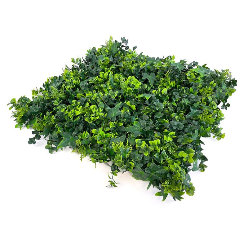 Artificial amazon hedging tile with thick green foliage