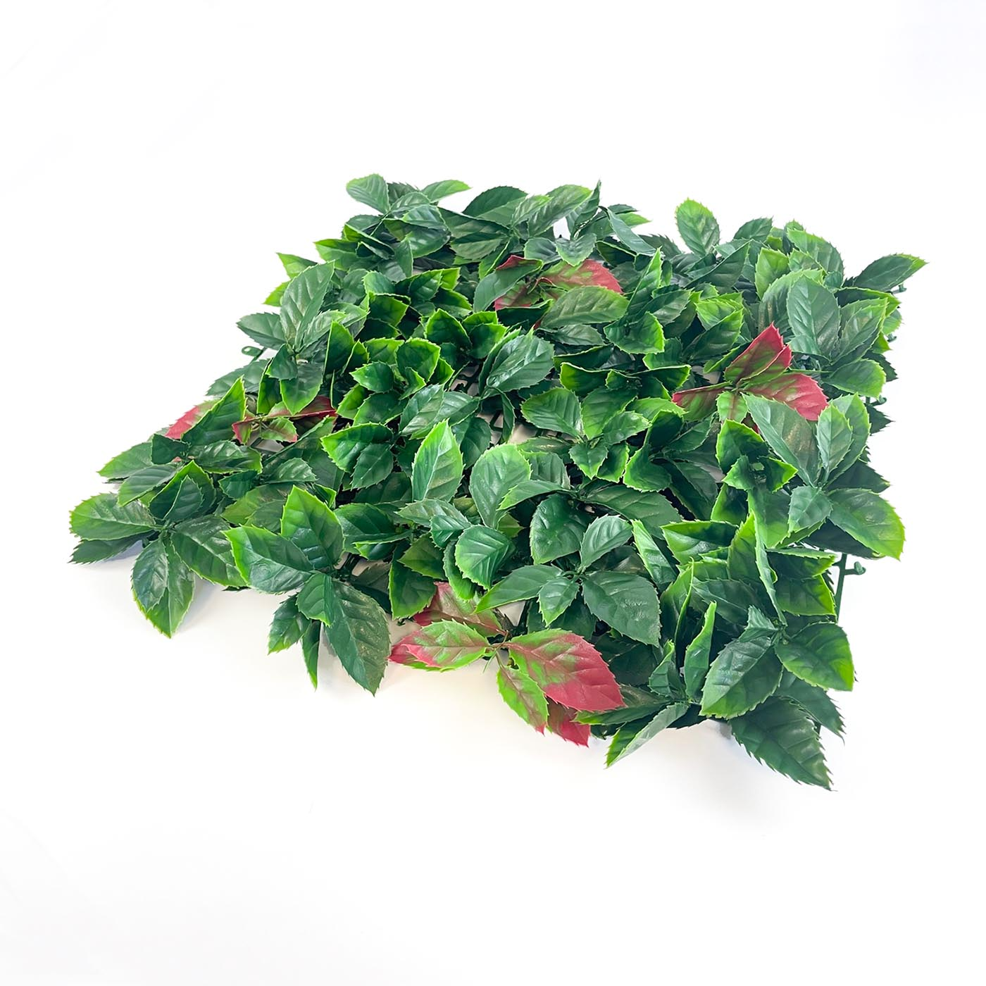 Autumn artificial hedging tile red tipped leaves and mixed green leaves