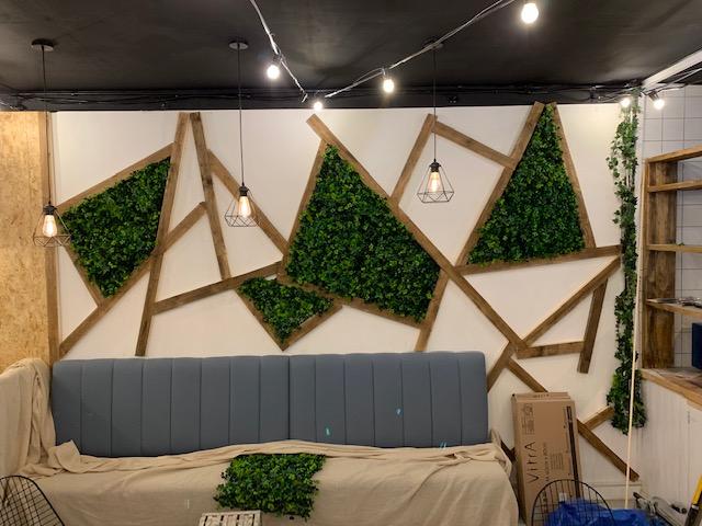 amazon artificial hedge tile design project