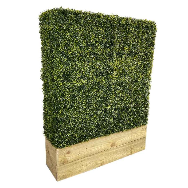 Artificial box hedge with trough