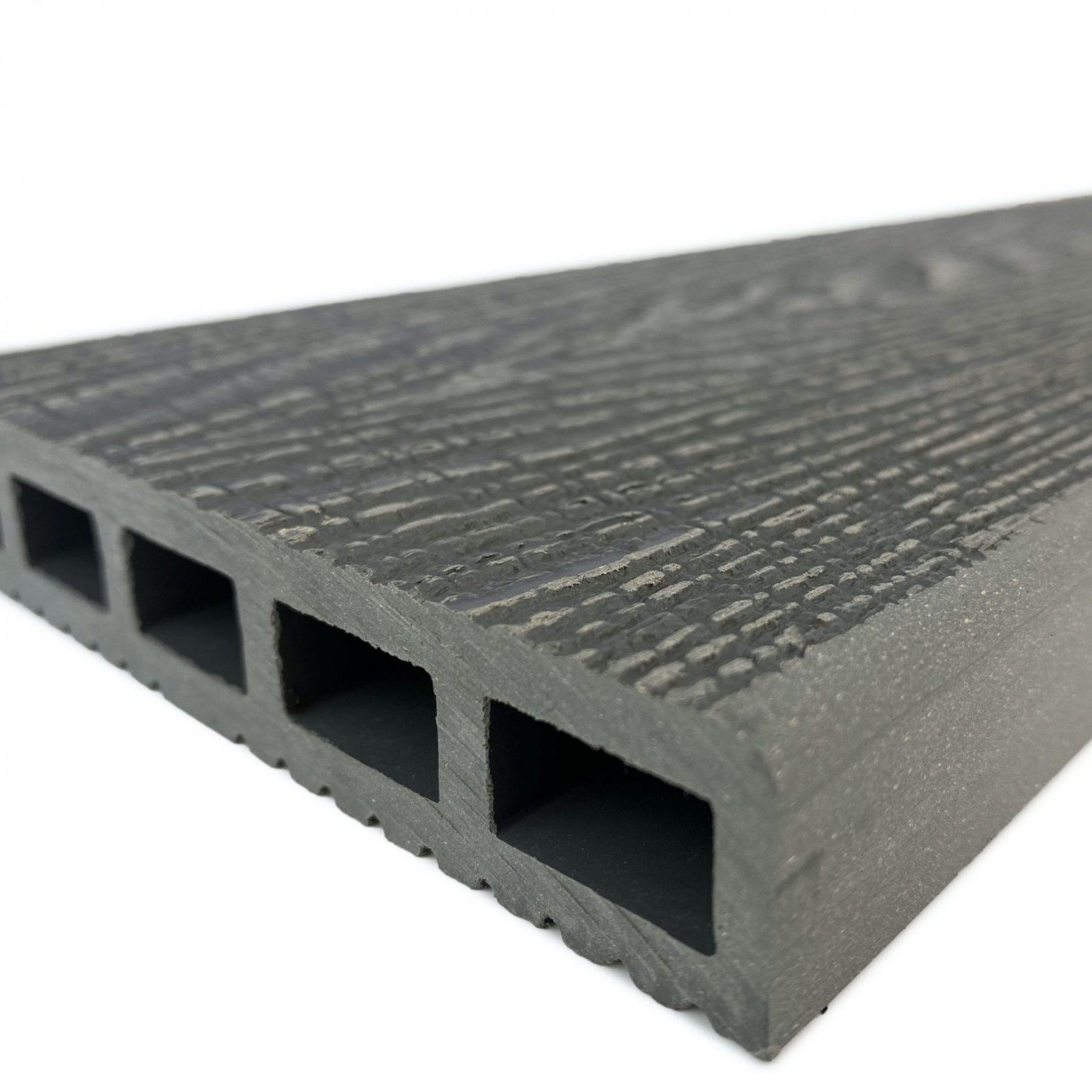 silver ash square edge composite decking boards