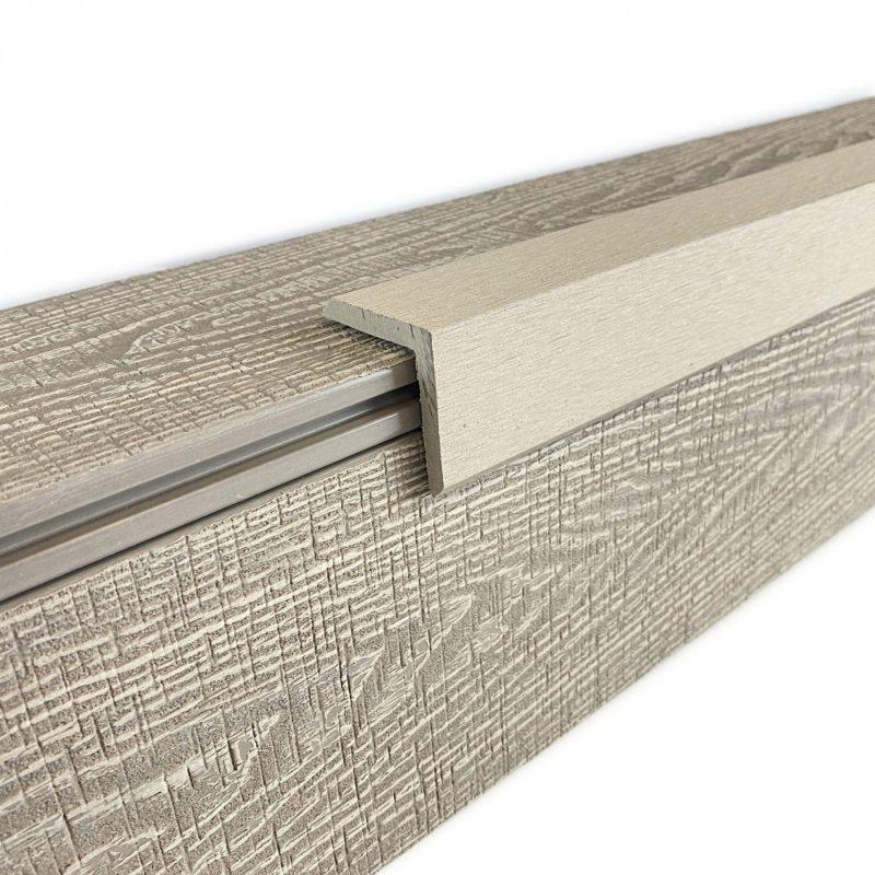 Oyster beige composite decking trim