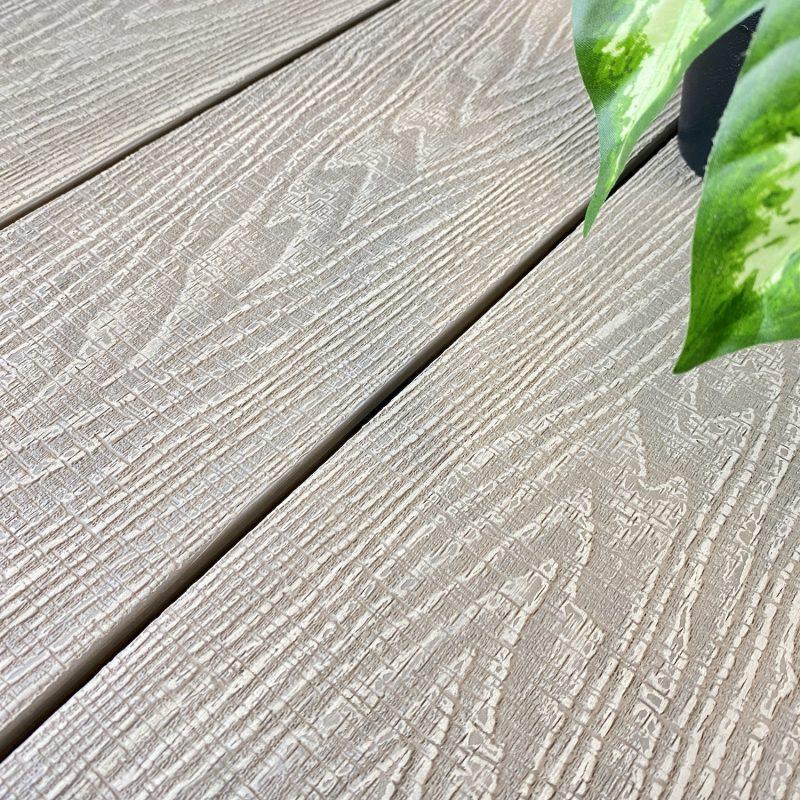 oyster beige woodgrain line decking boards