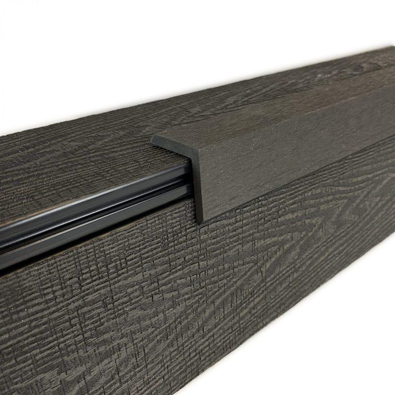 Black composite decking trim