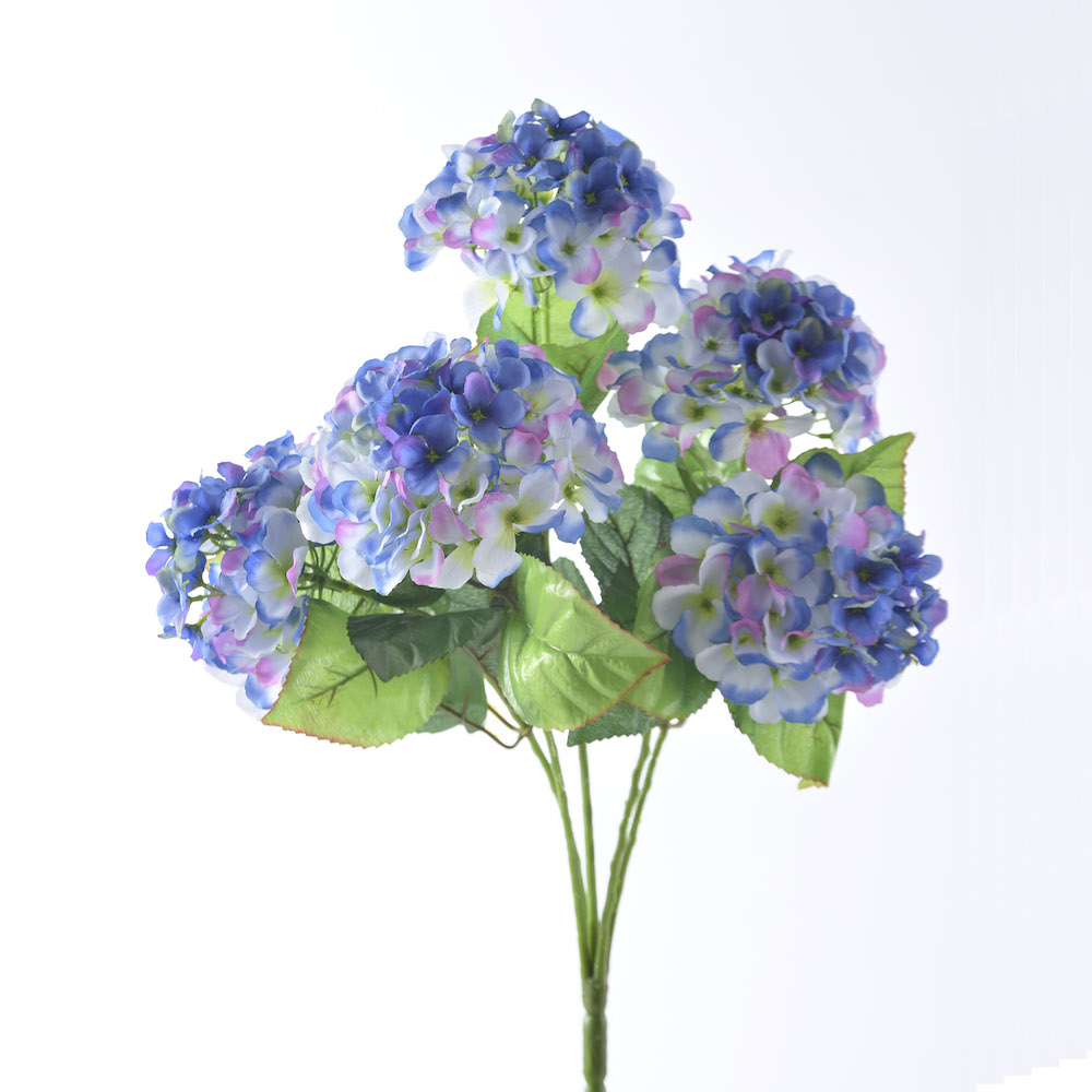 artificial Blue Mophead Hydrangea bunch
