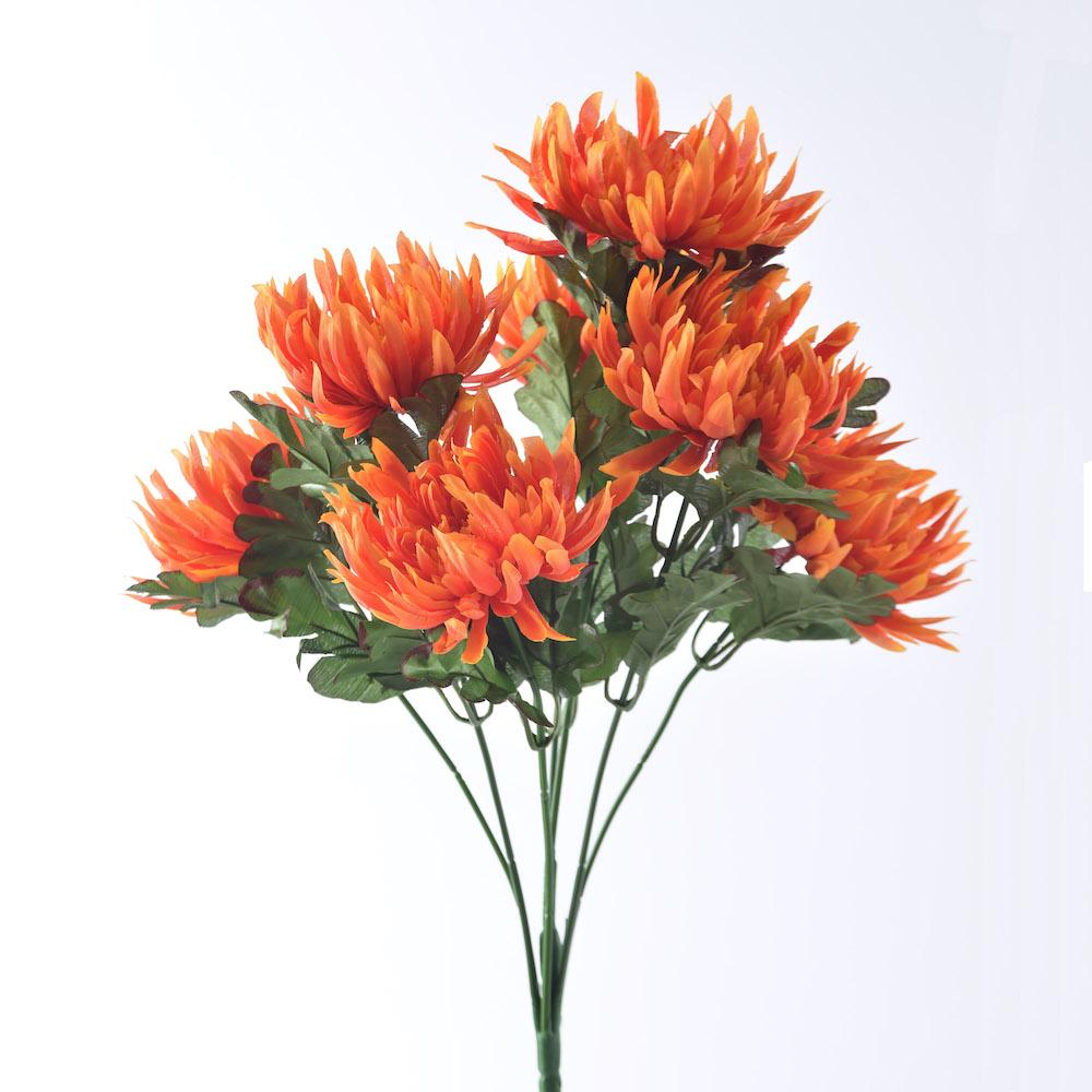 artificial Chrysanthemum Orange flowers
