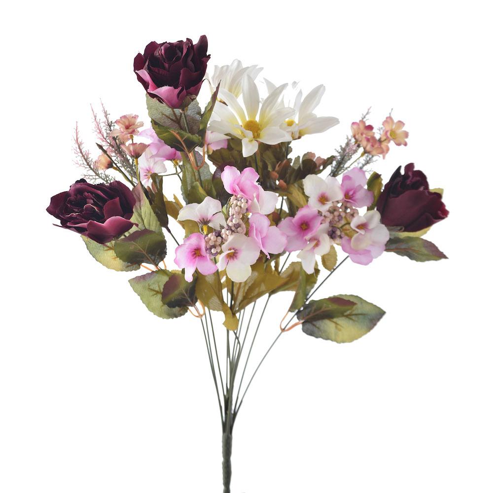 artificial Marsala Bouquet Mix