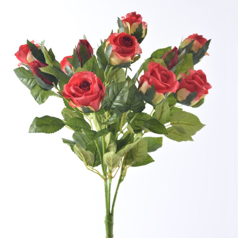 artificial red roses bunched
