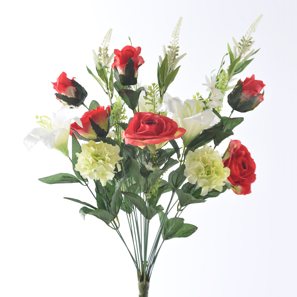Artificial lily and rose summer mix