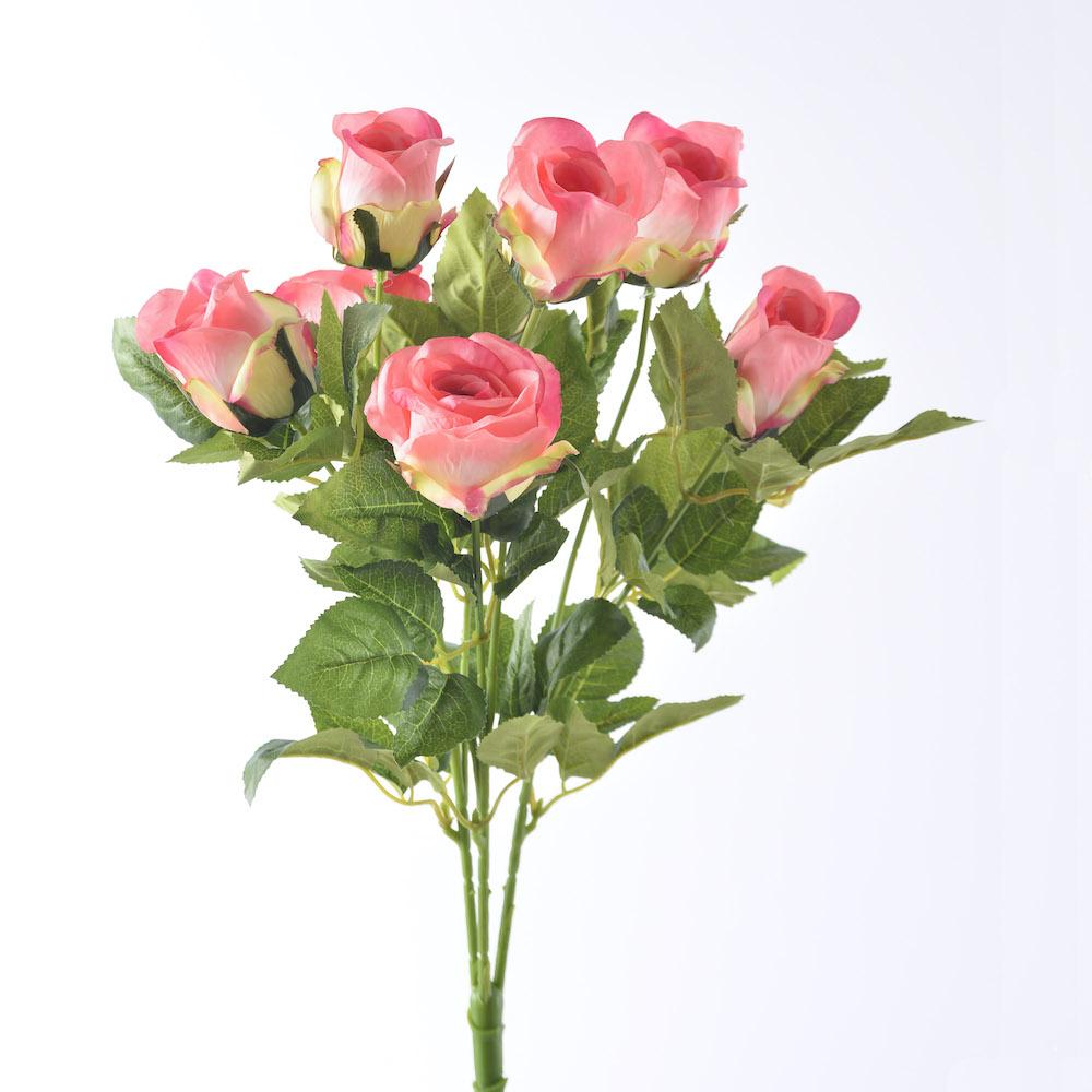 artificial wild pink rose bouquet