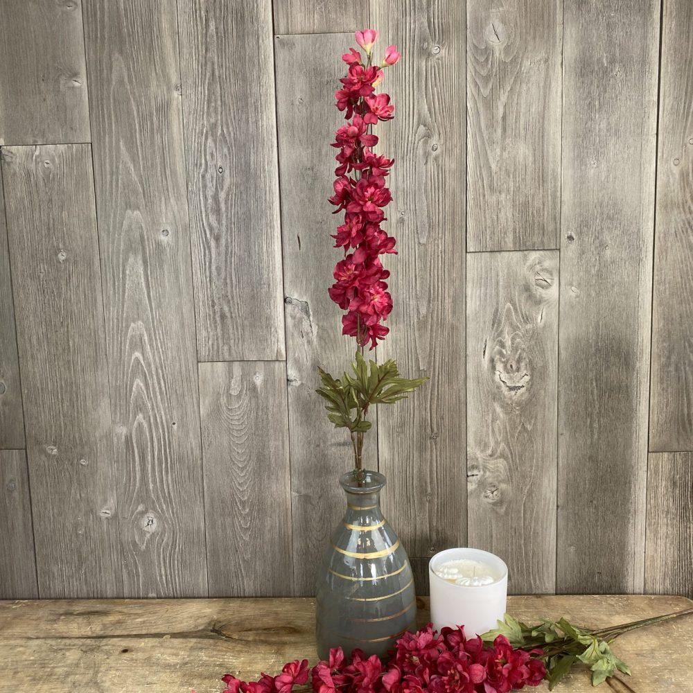 artificial red delphinium stem