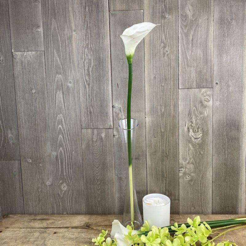 artificial white calla lilysingle stem