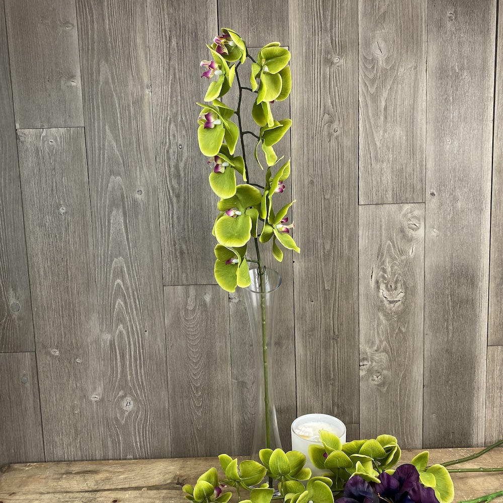 artificial prestige orchid green single stem