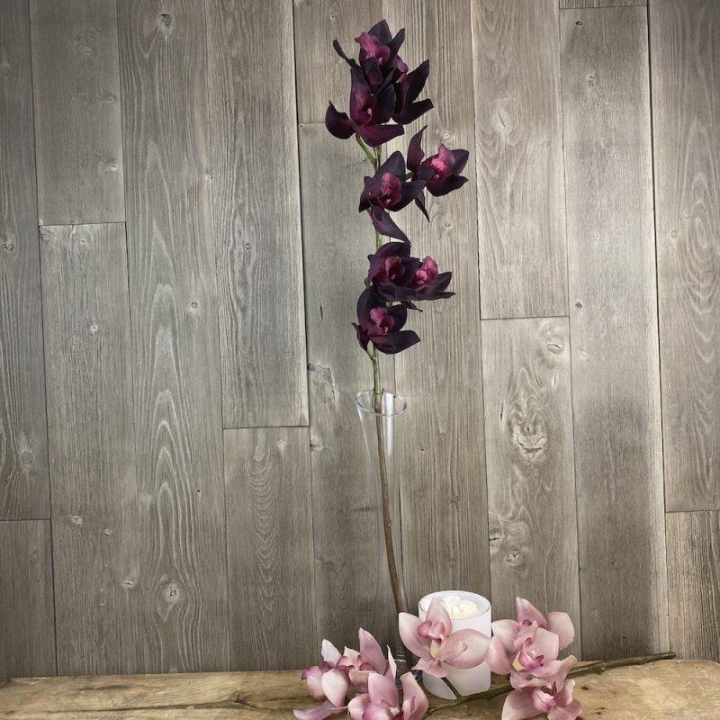 artificial single stem plum orchid