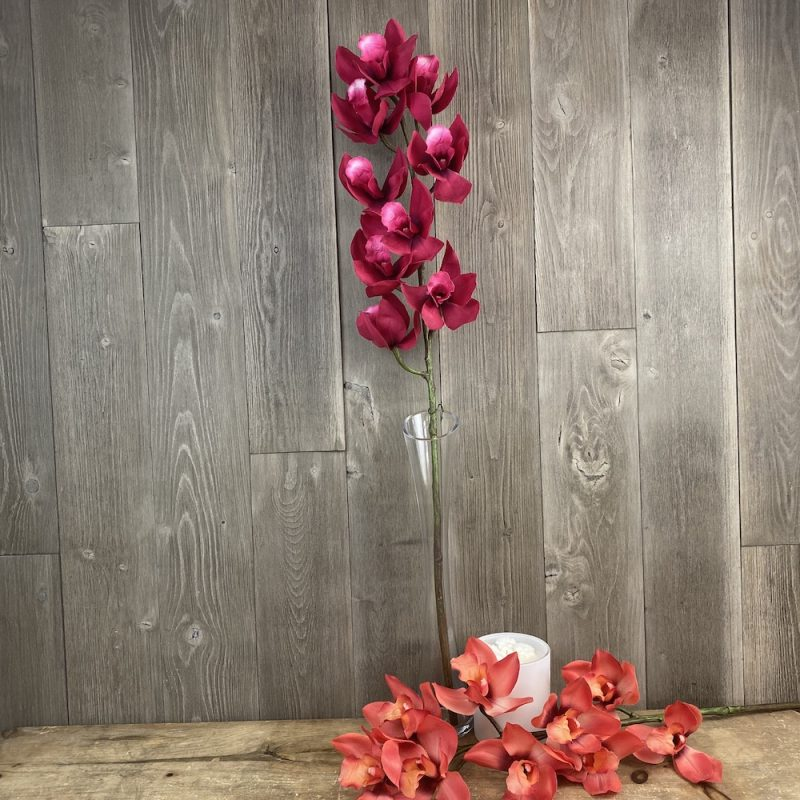 single stem artificial fuchsia pink orchid