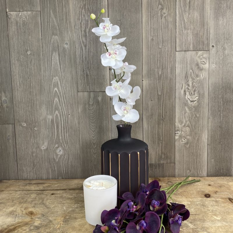 artificial white orchid stem