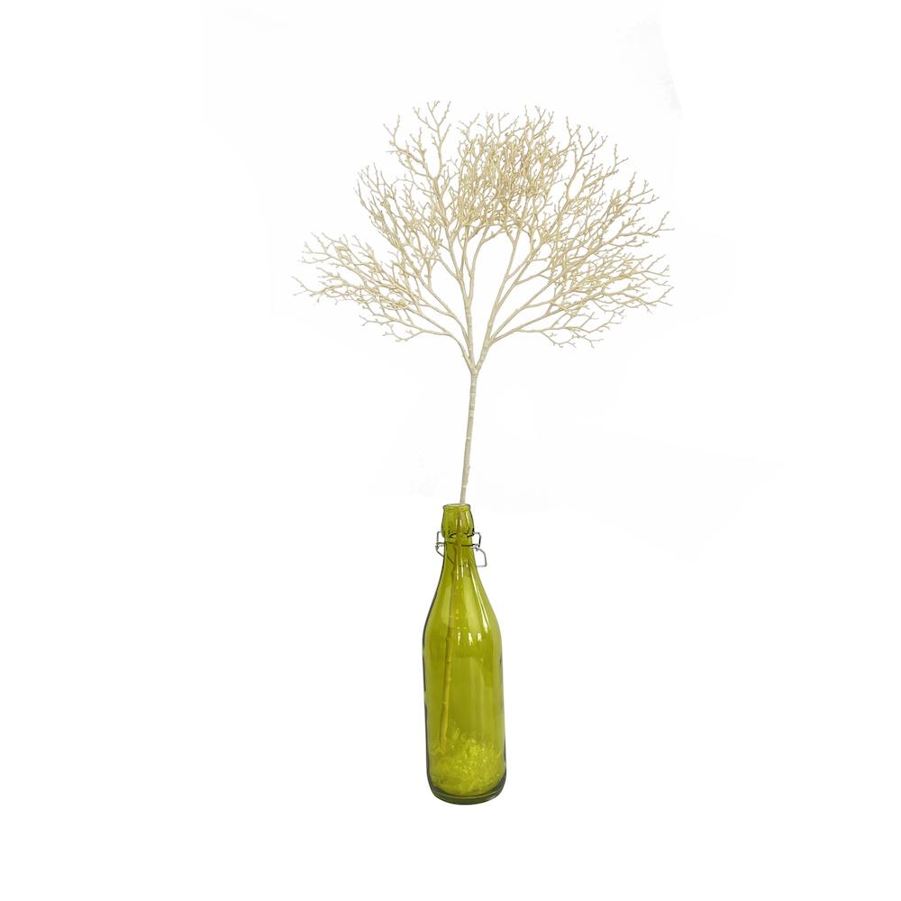 artificial Lacey bush spray white