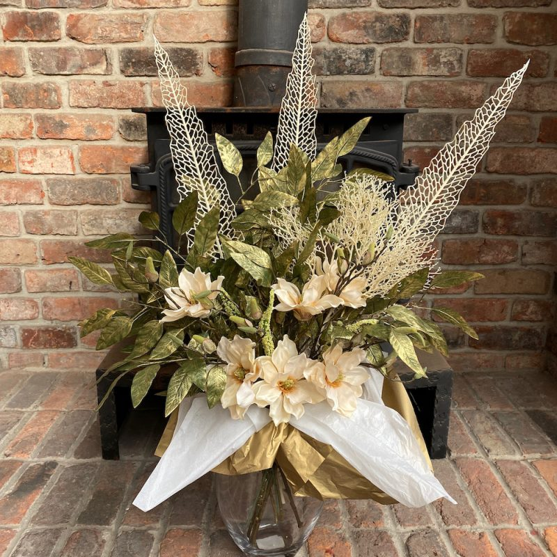 artificial magnolia surprise bouquet