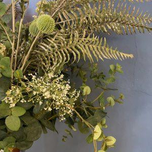 artificial flower arrangement close up