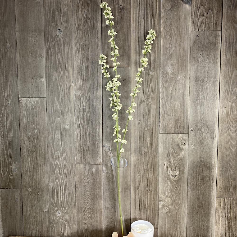 artificial cream hedgerow berry spray