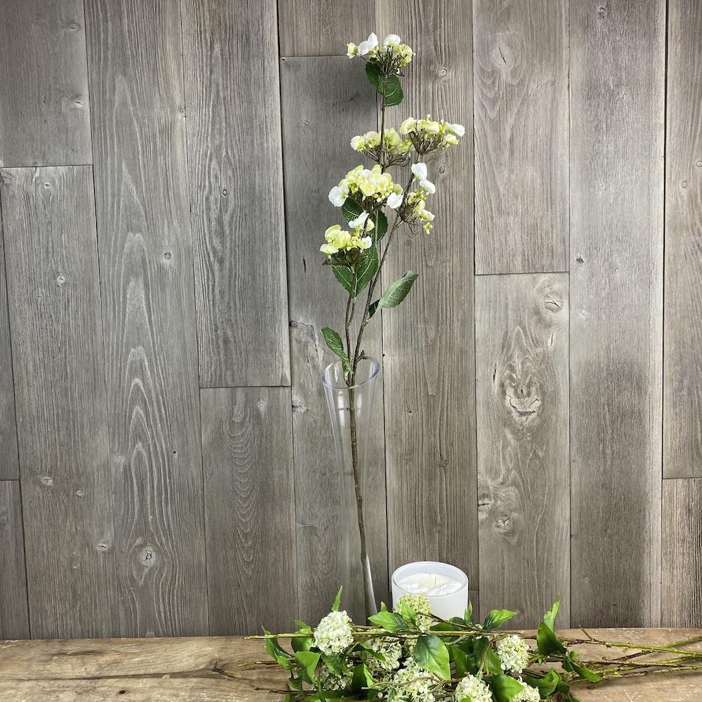 artificial hydrangea spray cream single stem