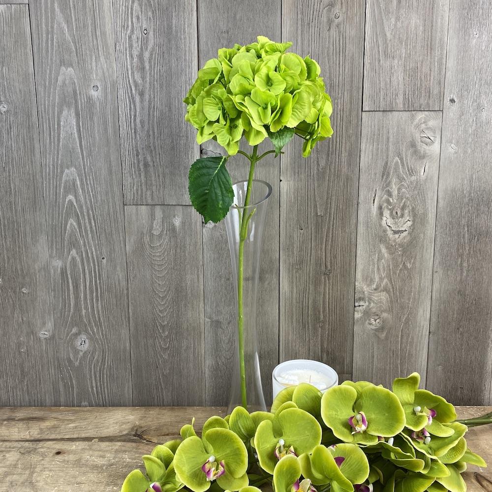 artificial hydrangea green single stem