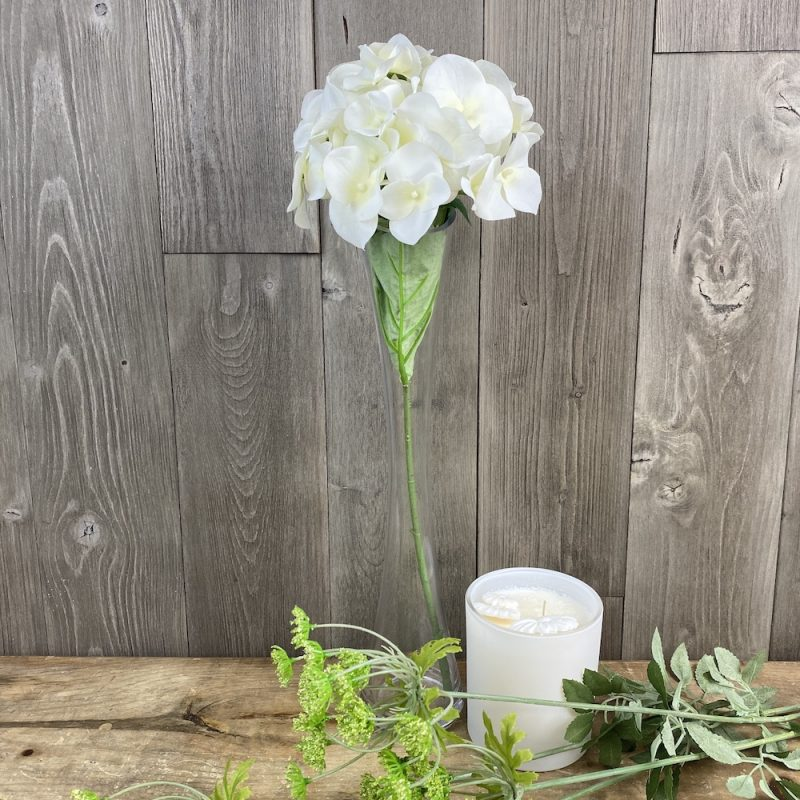artificial short stemmed hydrangea singular stem