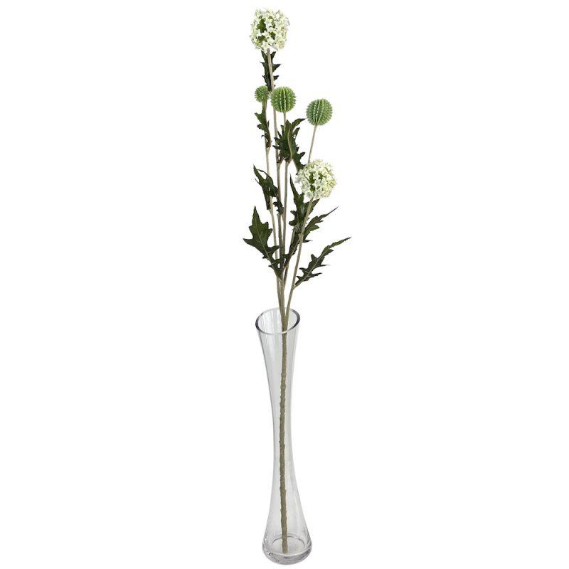 artificial globe thistle bouquet stems
