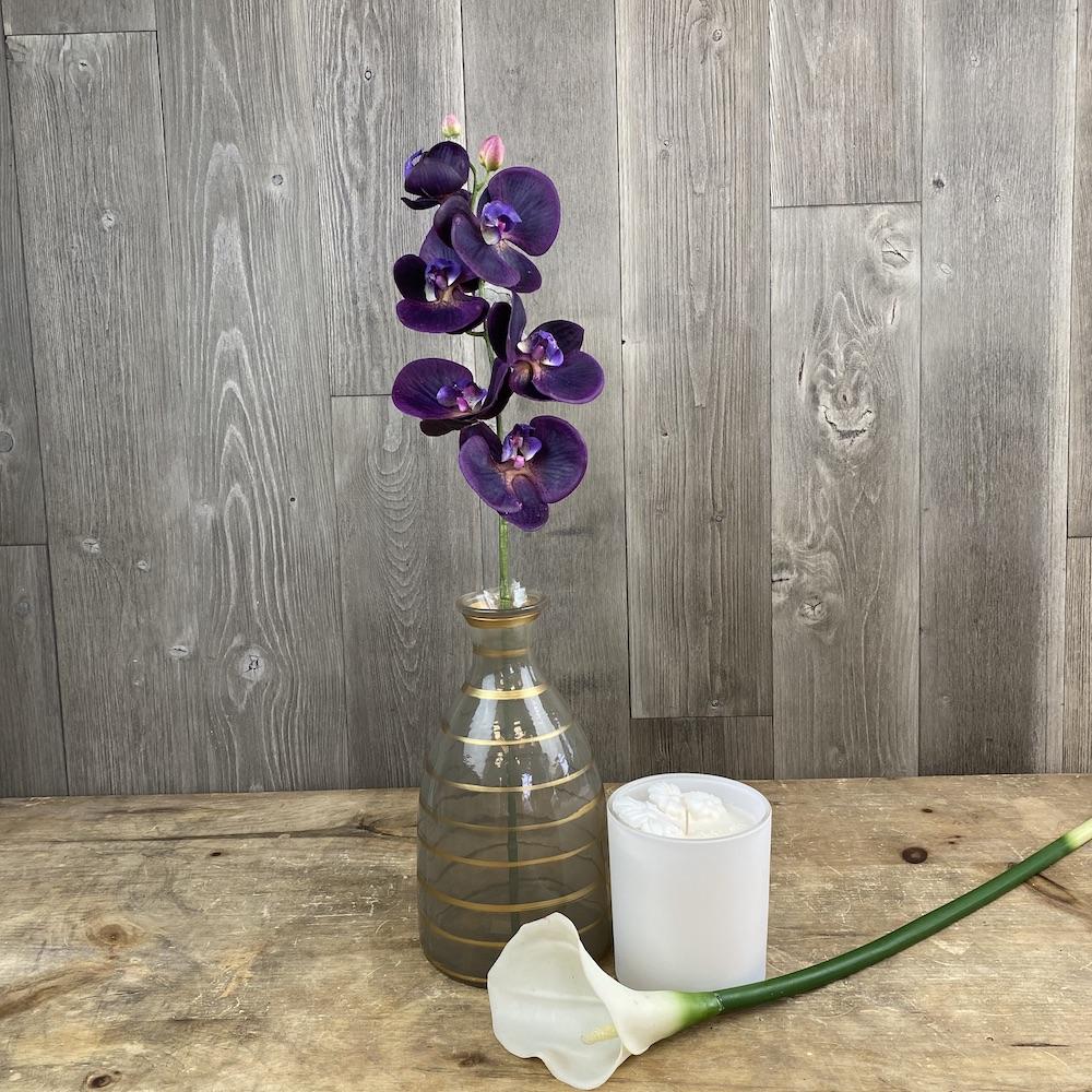 artificial premium purple orchid stems