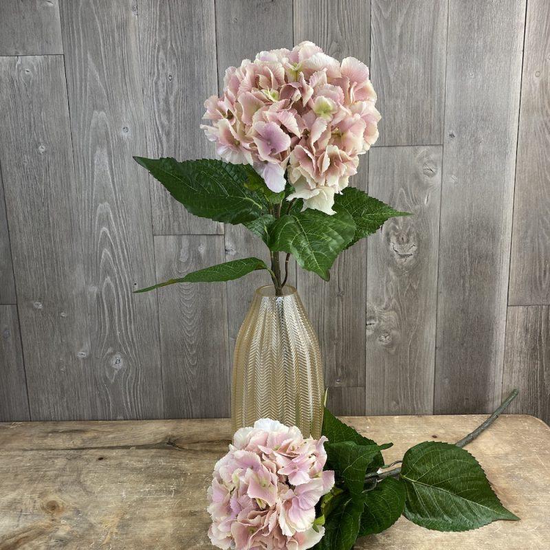 artificial single stem Isla Pink Hydrangea