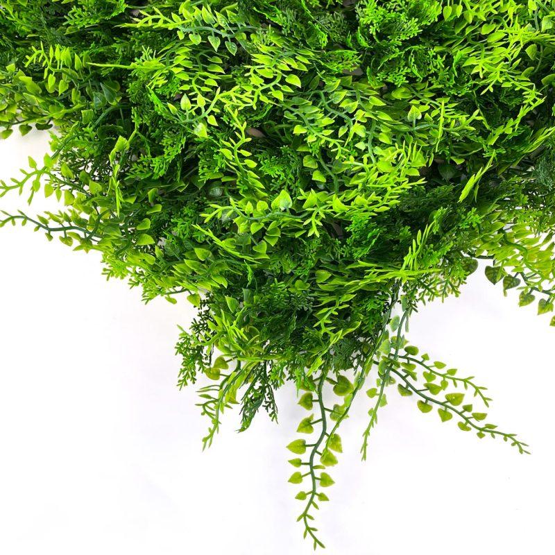 Conifer artificial hedging tile close up