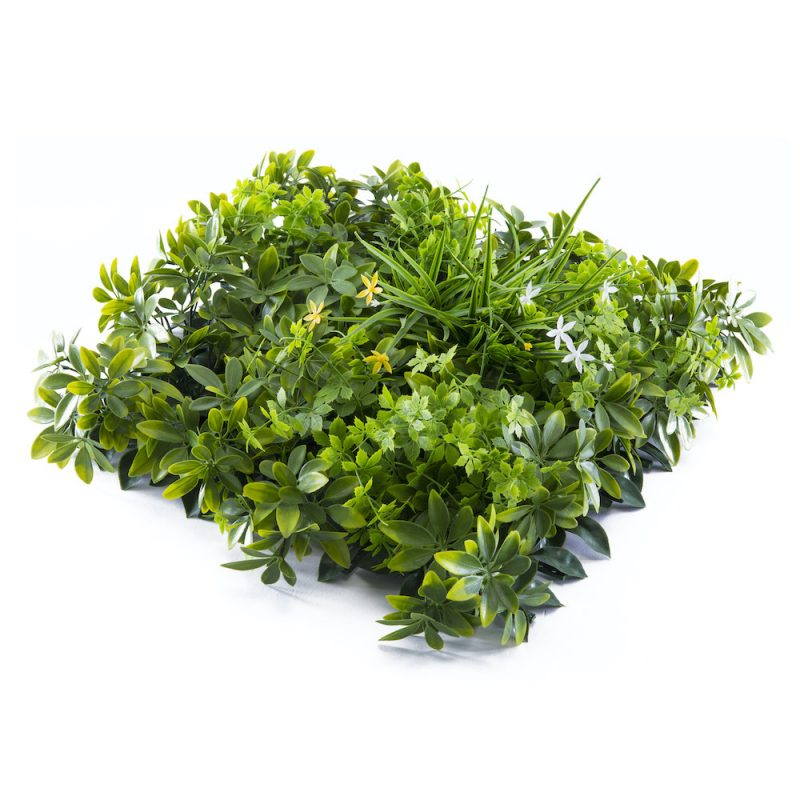artificial mixed foliage hedge tile