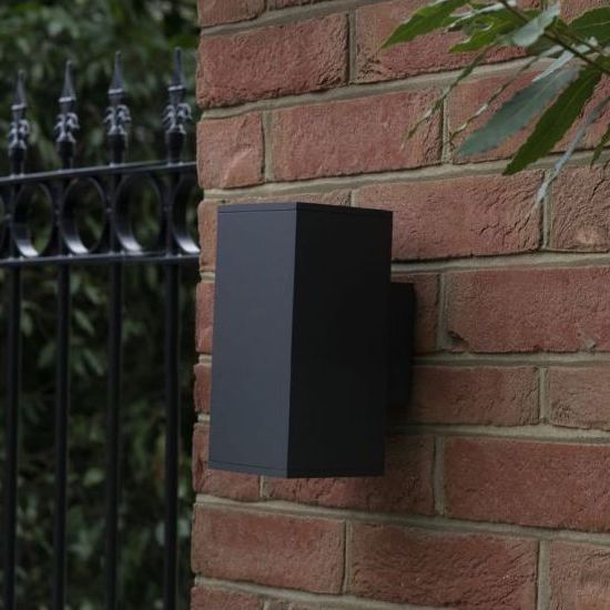 Moby black square outdoor light