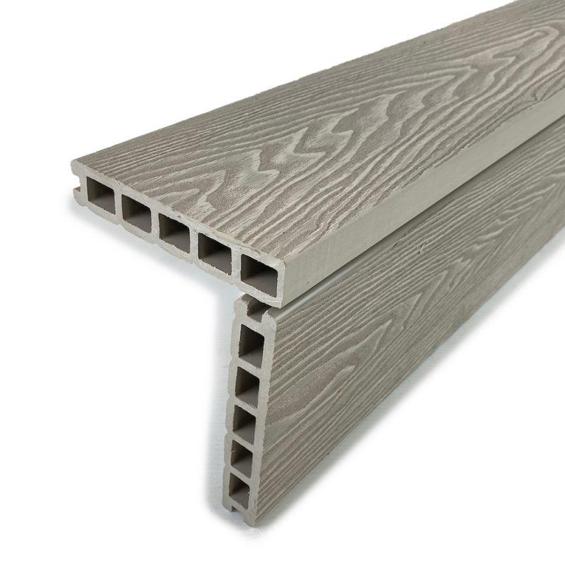 ash white square edge composite decking boards
