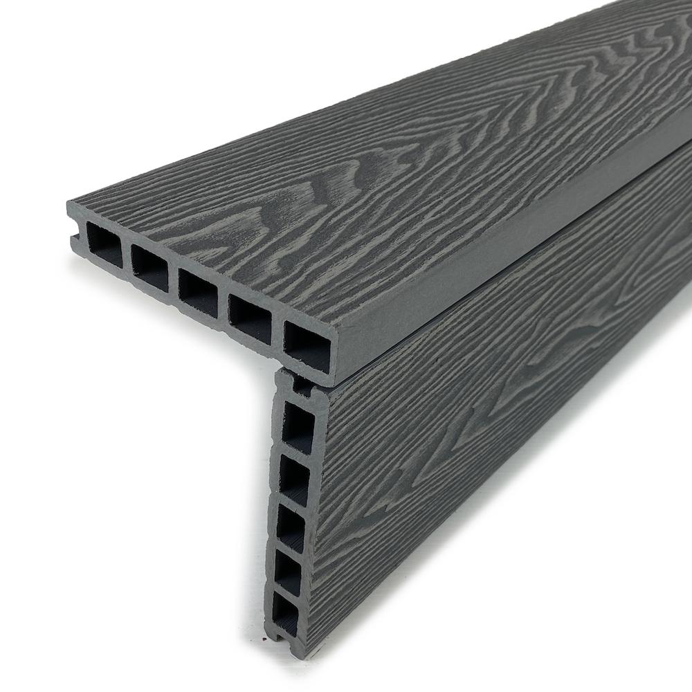 Mist grey composite square edge decking boards