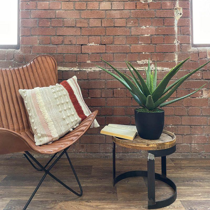 medium sized artificial realistic aloe vera plant