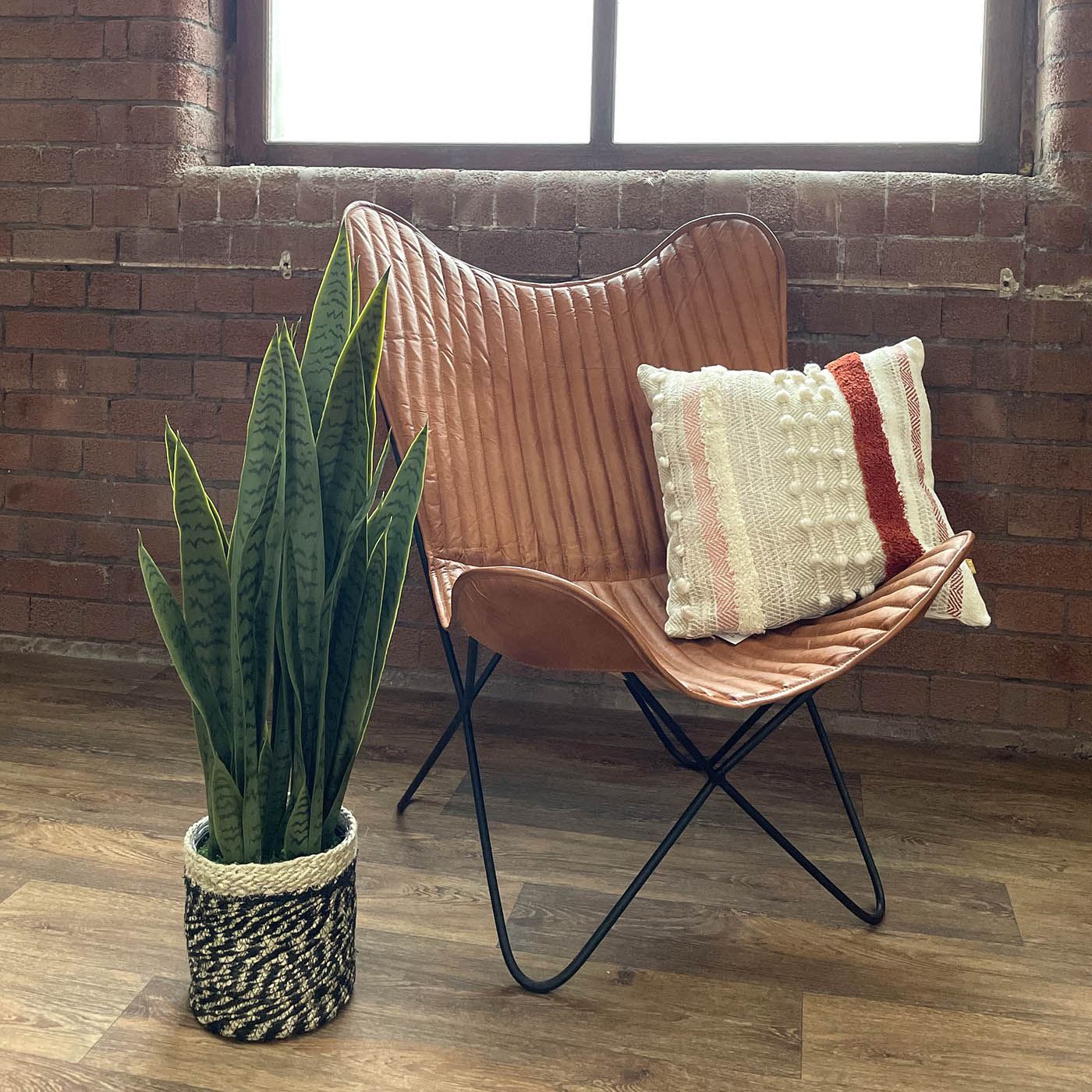 large artificial snake plant