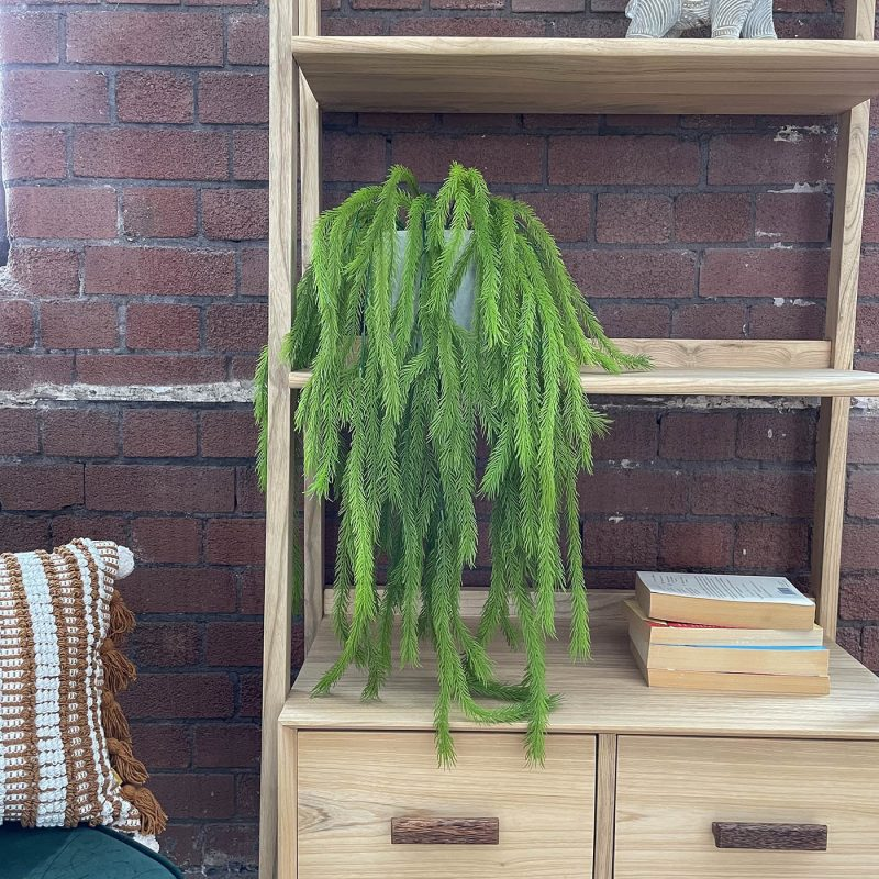 artificial hanging fern plant